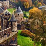 Vue de Fougères depuis le château