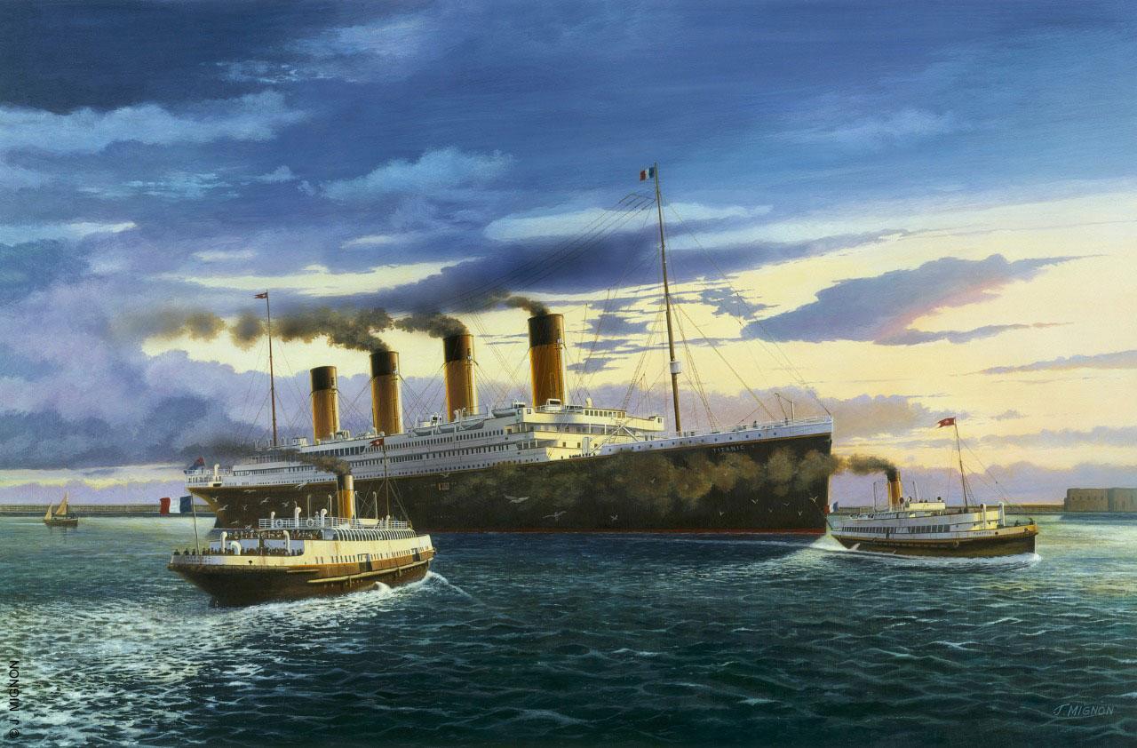 Exposition sur le Titanic à la cité de la mer de Cherbourg
