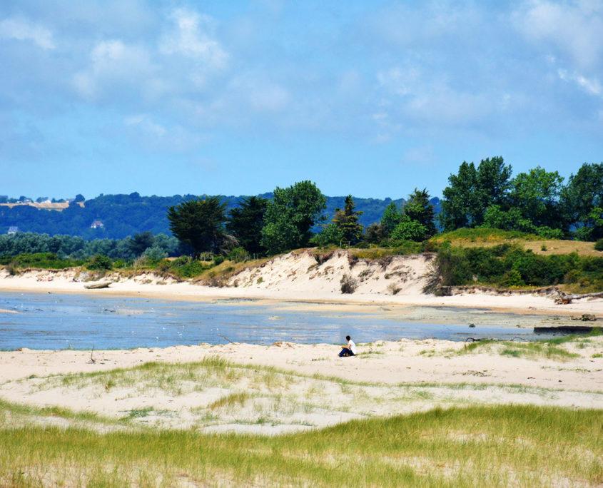 La plage du bec d'Andaine dans la baie du Mont-Saint-Michel
