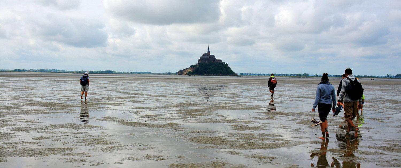 Traversée de la baie du Mont-Saint-Michel avec un guide