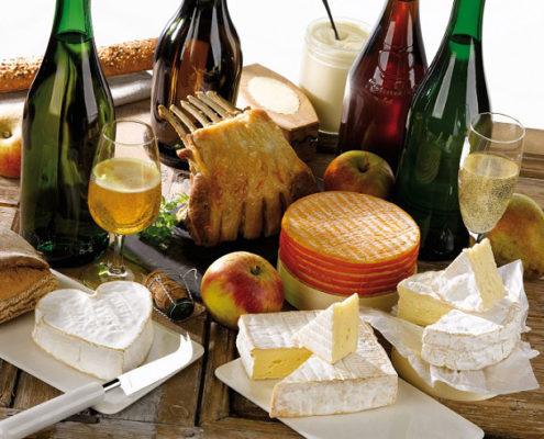 Plateau de fromage et cidre normand