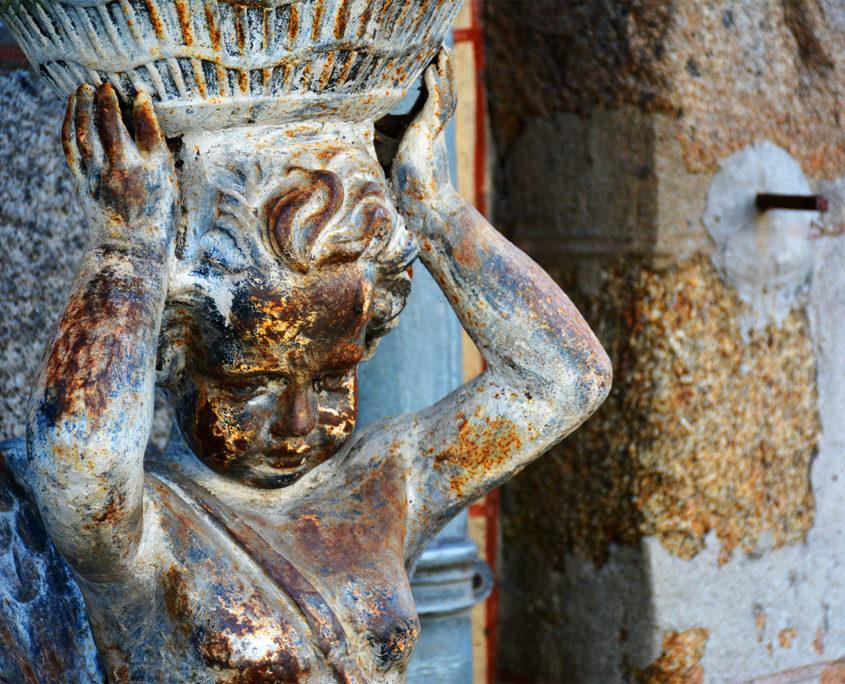 Sculpture au Mont-Saint-Michel