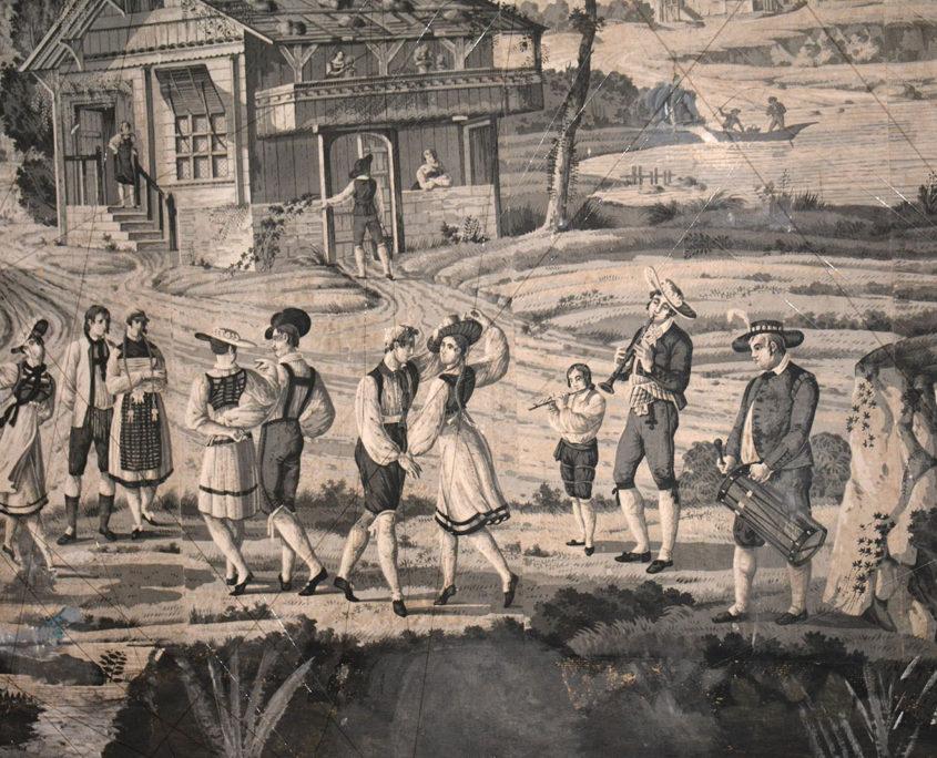Une toile de Vitré : les musiciens
