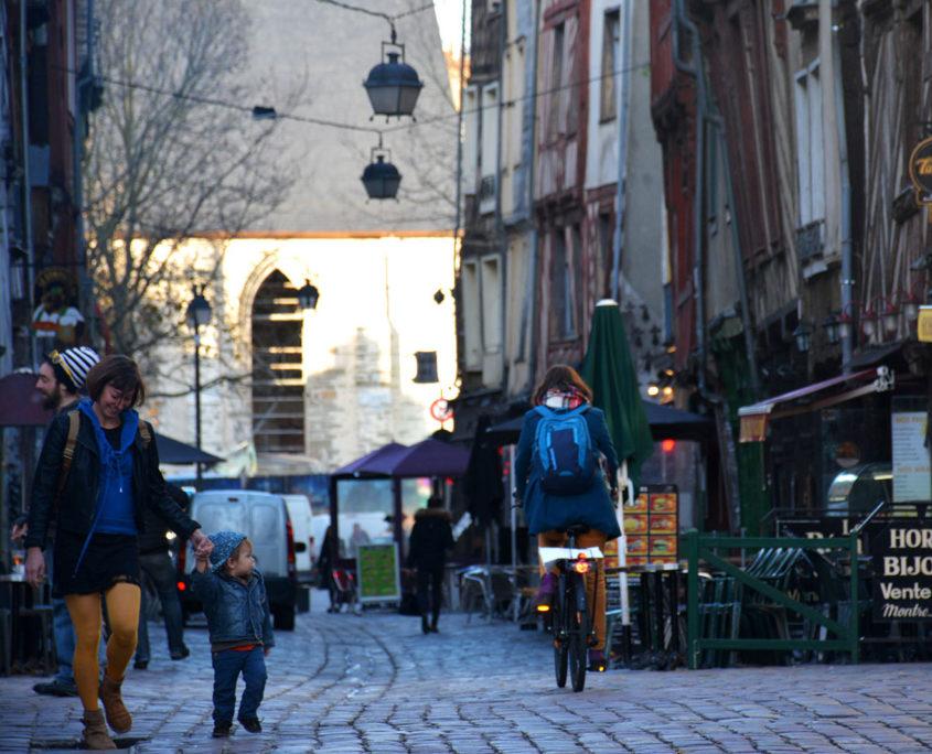 Les ruelles de Rennes et les maisons à colombages
