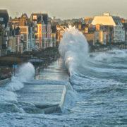 La grande marée du siècle à Saint-Malo
