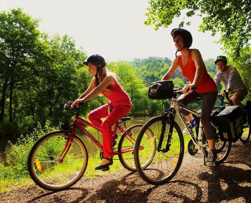 Balade en vélo et en famille