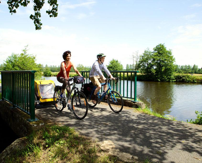 Balade en vélo en bord de rivière