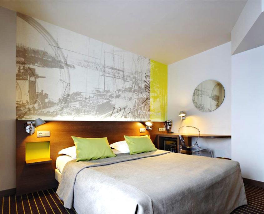 Chambre double à l'hôtel Amiral de Nantes