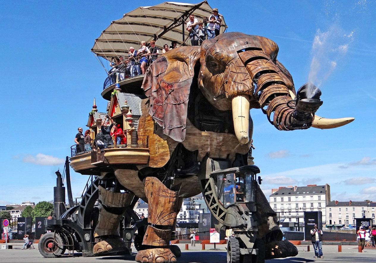 Le grand éléphant du voyage à Nantes