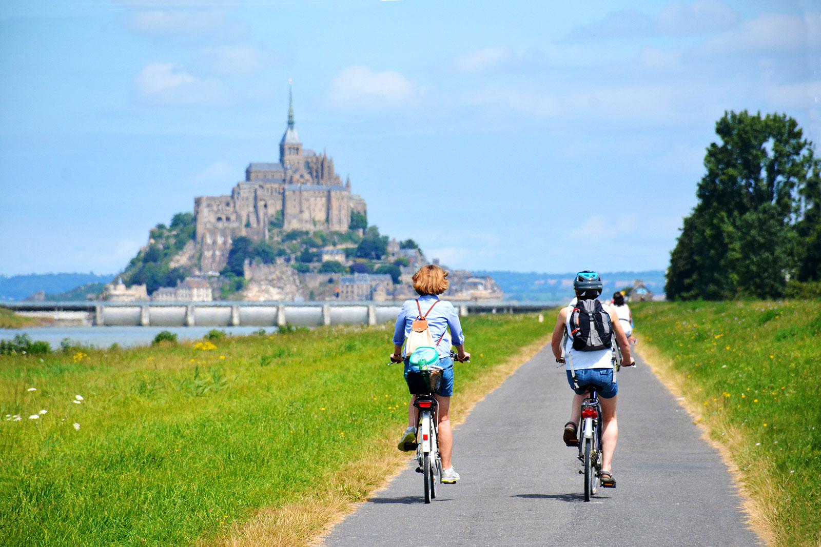 Balade au Mont-Saint-Michel à vélo