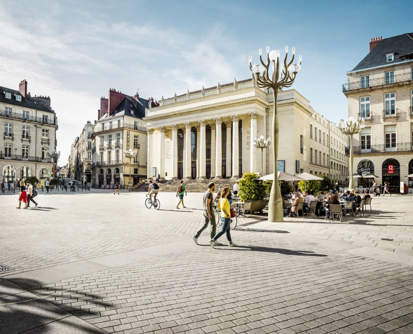 Le Théâtre et la place Graslin à Nantes