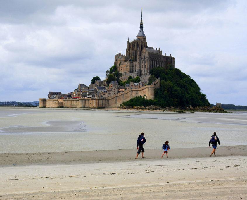 La traversée de la baie du Mont-Saint-Michel en famille