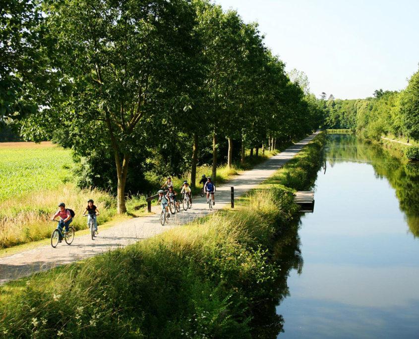Balade à vélo sur la voie verte autour de Rennes