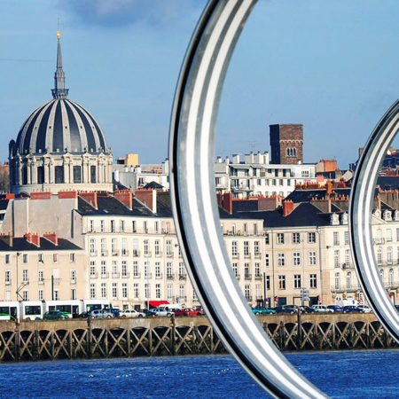 Vue sur la Loire et sur Nantes