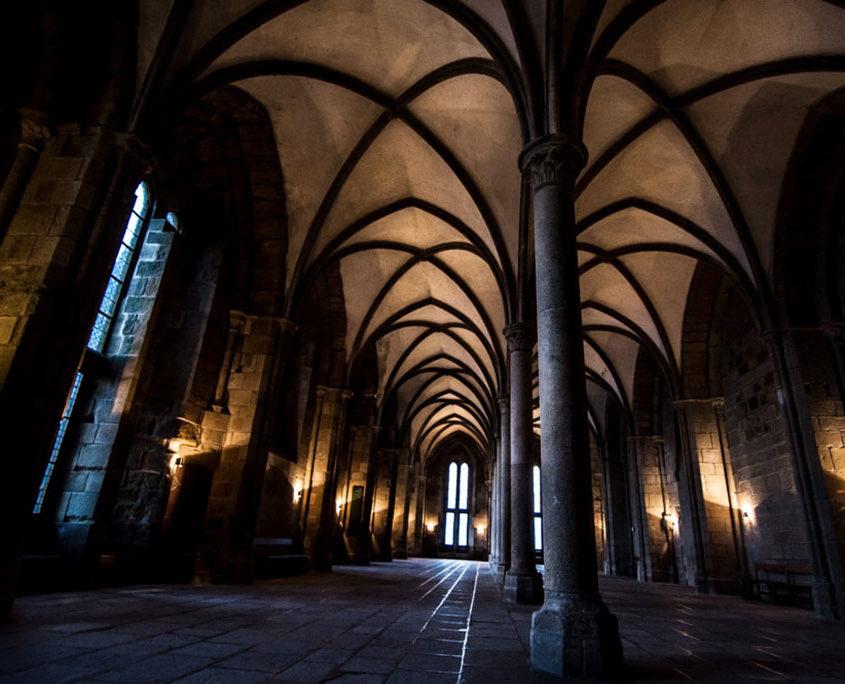 L'intérieur de l'Abbaye du Mont-Saint-Michel