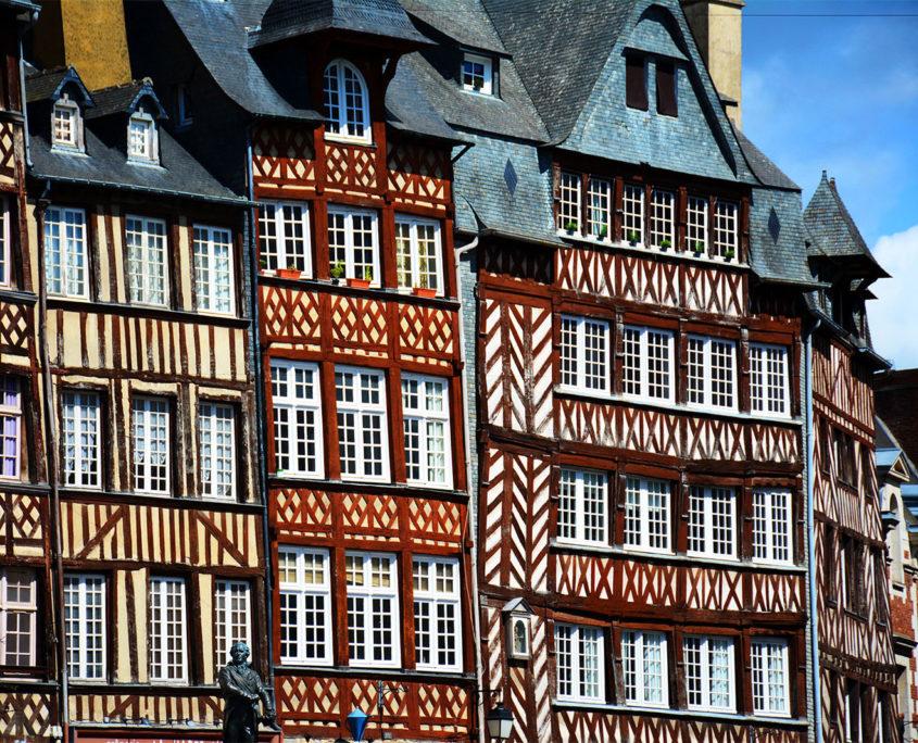 Maisons à colombages dans le vieux Rennes