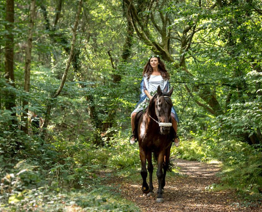 Balade à cheval dans la Forêt de Brocéliande