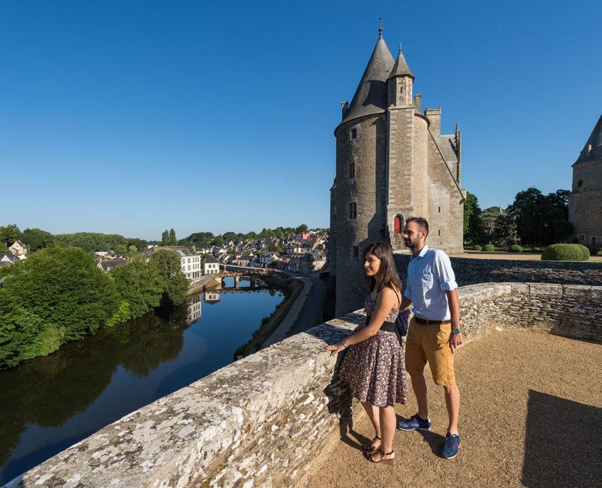 Vue sur Josselin et son Château