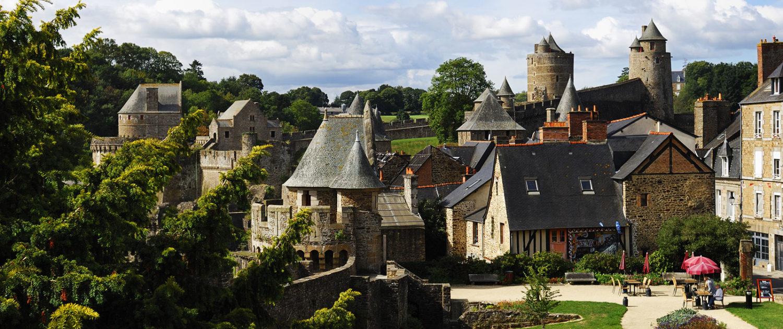 Vue sur le Château de Fougères
