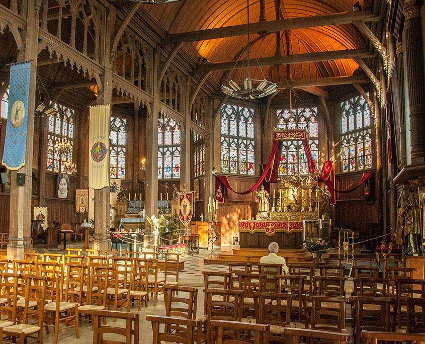 Eglise Sainte-Catherine à Honfleur, en bois