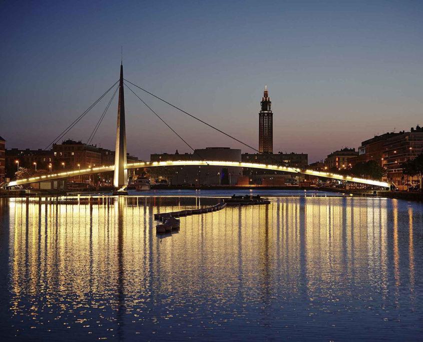 Le Havre et son centre, patrimoine mondial de l'UNESCO de nuit