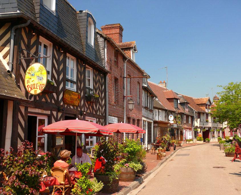 Maisons à colombages à Beuvron-en-Auge