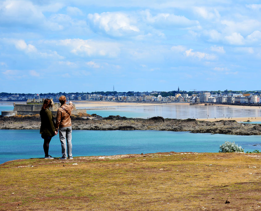 Balade en amoureux sur le Grand Bé et vue sur Saint-Malo