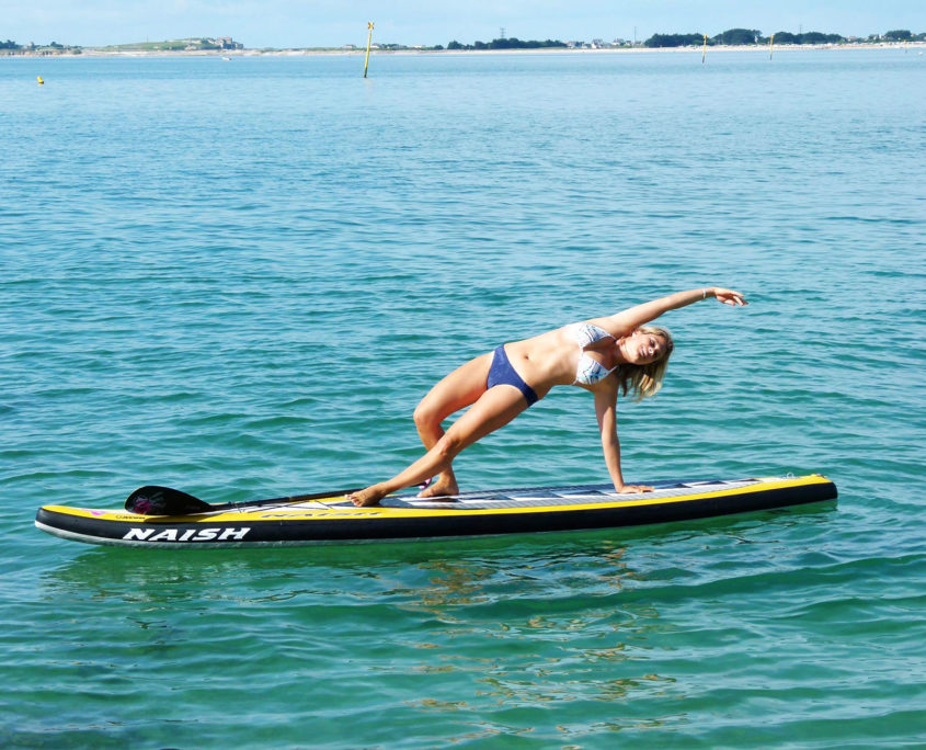 Stand up yoga paddle