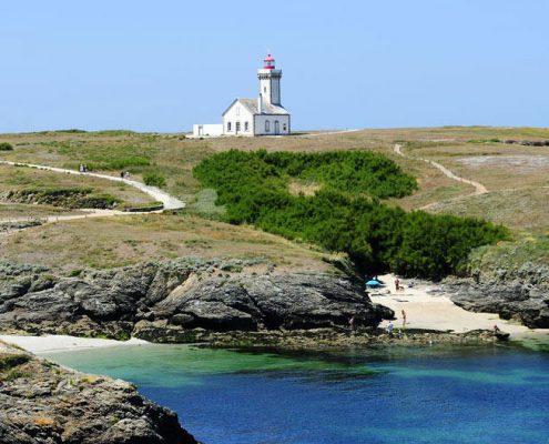 Crique et phare à Belle Ile en mer