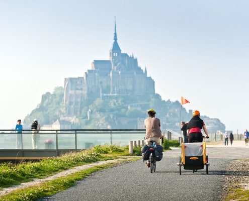 Balade en vélo au Mont-Saint-Michel