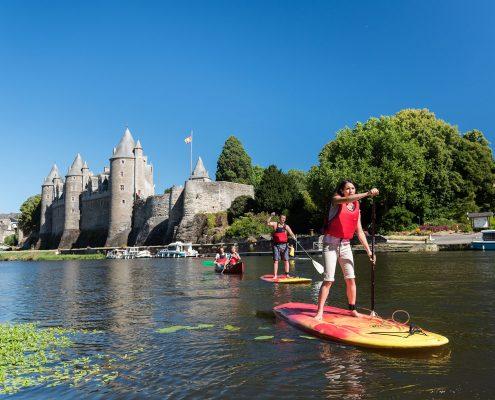 Paddle à Josselin sur le canal de Nantes à Brest