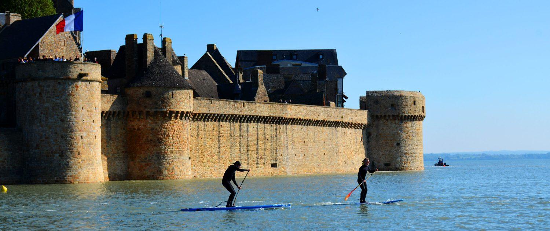 Paddle à l'entrée du Mont-Saint-Michel