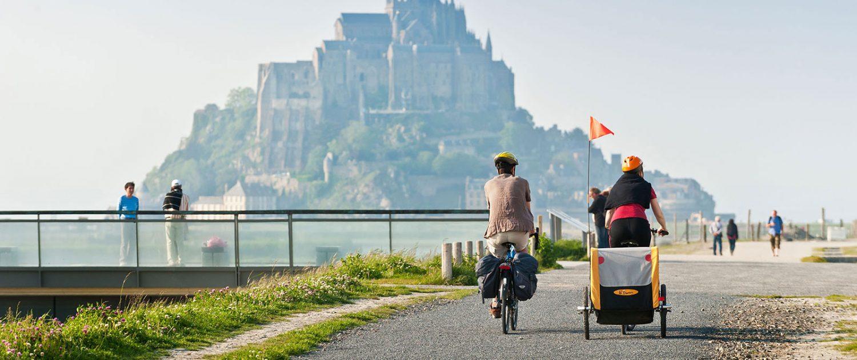 Balade à vélo au Mont-Saint-Michel