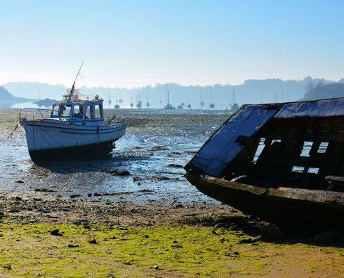 Cimetière de bateau près du chantier naval de la Passagère