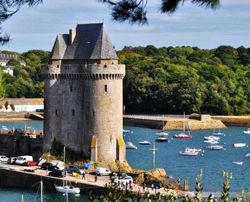 La tour Solidor dans le quartier de Saint-Servan à Saint-Malo