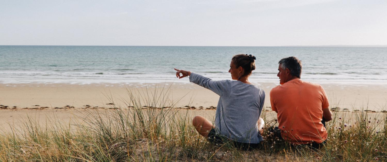Détente sur les plages de Normandie