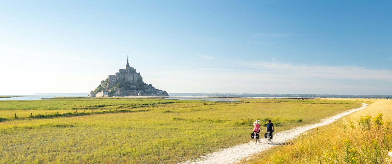 Le Mont Saint Michel à vélo